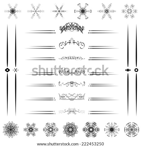 Divider Lines Stock Vectors Vector Clip Art Shutterstock