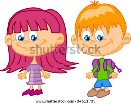 Boy And Girl Cartoon Faces Stock Images, Royalty-Free Images ...