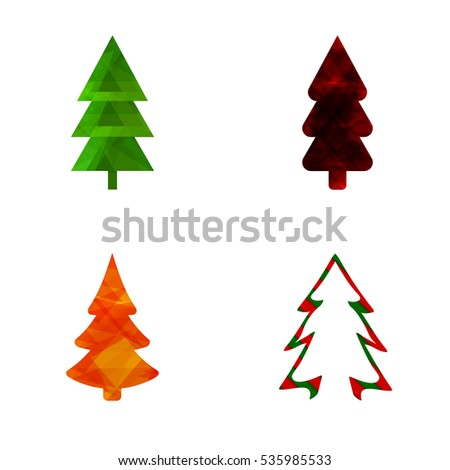set christmas tree abstract logo design stock vector 2018 rh shutterstock com christmas tree looks christmas tree log cabin pattern