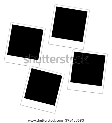 Set collection four photos frame for design scrapbook space for your text - vector