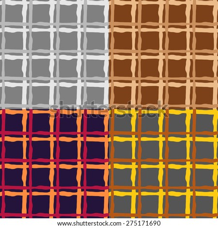 Set color of seamless patterns of irregular cells on a monophonic background