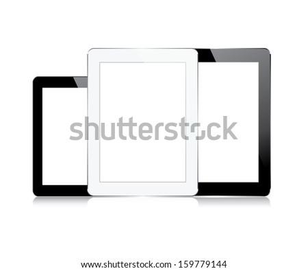 set computer tablets touchscreen. vector illustration. eps10 - stock vector