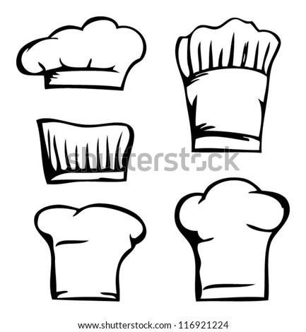set cooking caps, chef's hat set