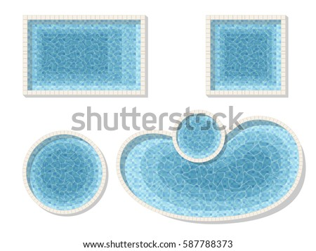 Rectangle Pool Aerial View swimming pool underwater stock images, royalty-free images