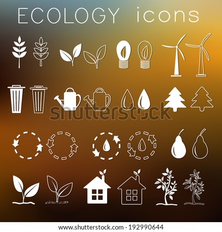 set eco icon on ambient background. Vector illustration design - stock vector