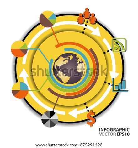 Set elements infographic chart layout vector design