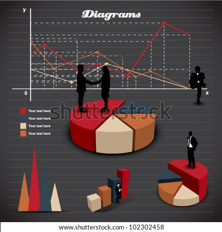 Set elements of infographic. Diagram - stock vector