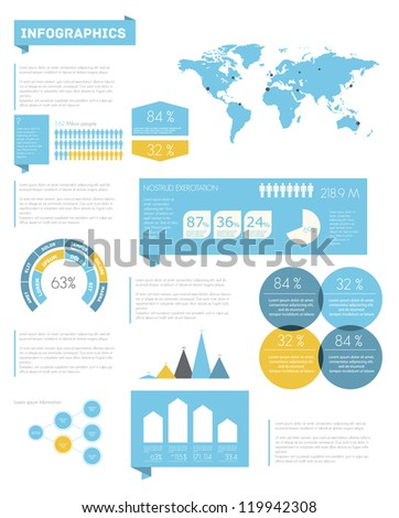 Set elements of infographics. Vector - stock vector
