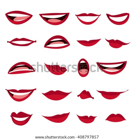 Free Clipart: Cartoon Mouth n Eyes | Objects … | CRAFTS ...