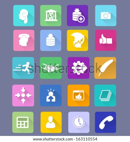 Set flat design icon. Vector big pack. - stock vector