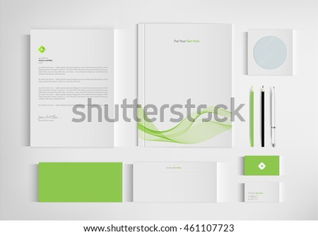 set folder documentation for business vector design.