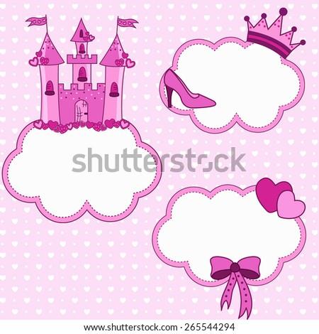 Set for a princess  - stock vector