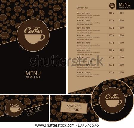 Set cafe menu business cards coasters stock vector 197576576 set for the cafe menu business cards and coasters for drinks colourmoves