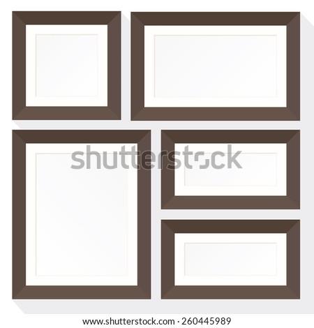 Set Frame Mockup Consists Five Frames Stock Vector 260445989 ...