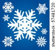 Set from original snowflakes - stock vector