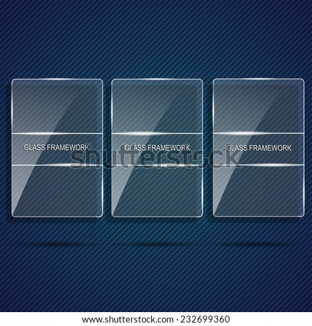 Set Glass Framework - stock vector