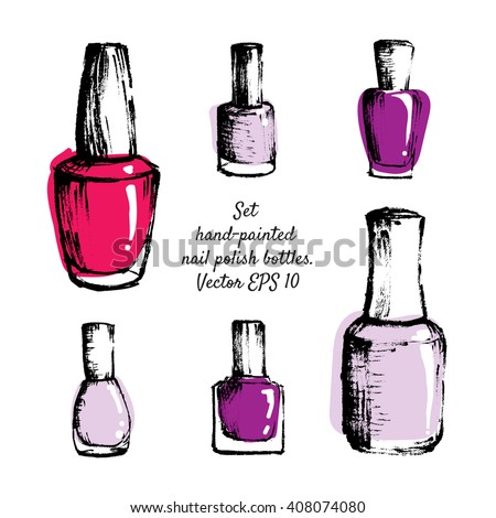 nail varnish bottle template hession hairdressing