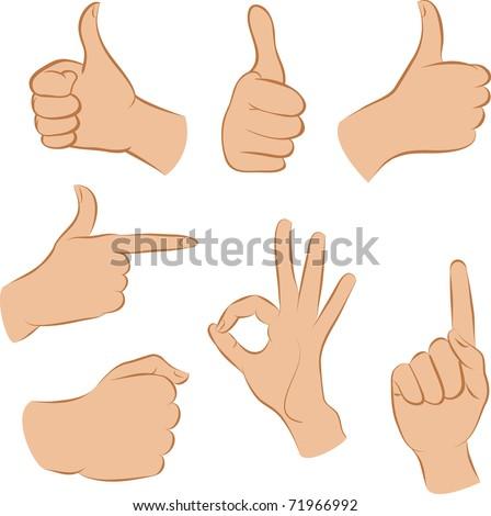 set hands - stock vector