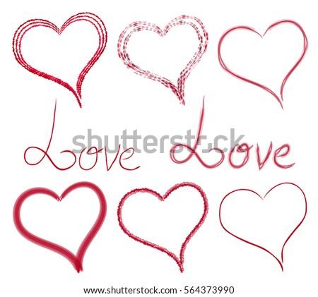 Vector script heart