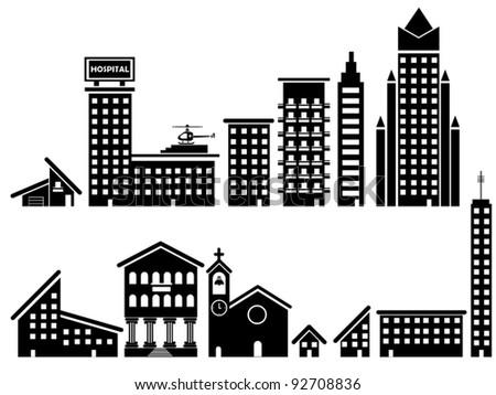 SET HOME - stock vector