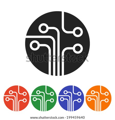 Set icon - stock vector