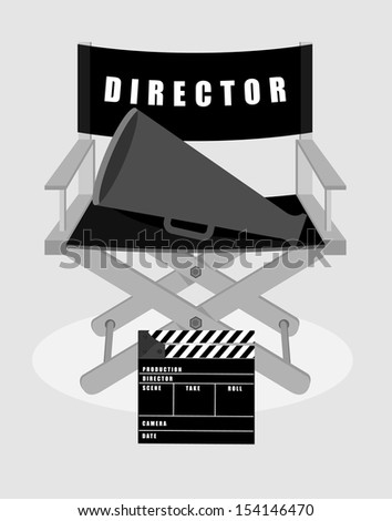 set icons cinematography - stock vector