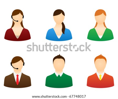 Set icons people vector for design. - stock vector