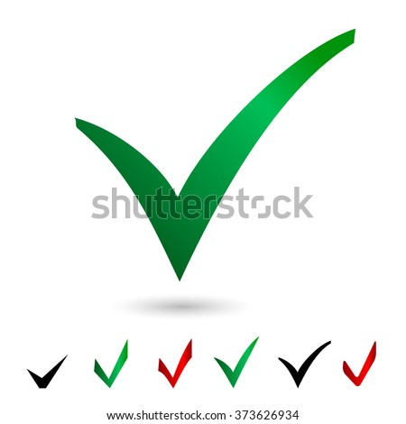 Set icons vote. Elections. Vector illustration.  isolated vote on white background. vote button. poll icon. green vote isolated. set color check mark. - stock vector