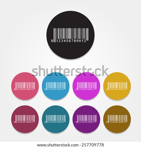 Set if vector bar code icons - stock vector