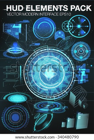 set Infographic elements. futuristic user interface HUD UI UX. Connection structure. Vector science background. abstract elements for medical interfaces. Vector illustration. futuristic user interface - stock vector