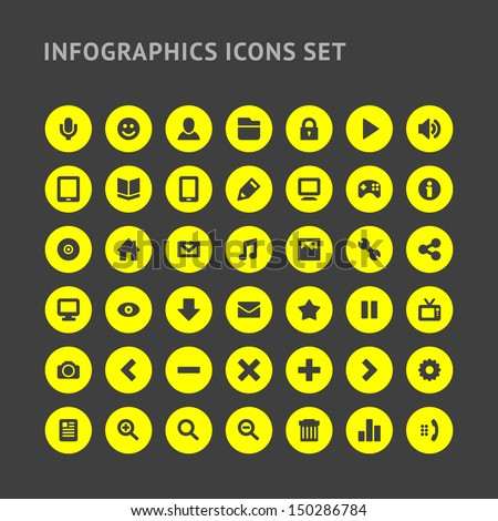 Set Infographics web icons or design elements.  Vector illustration eps 10. - stock vector