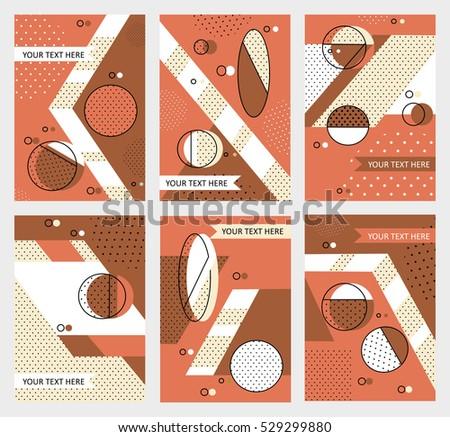 Set invitation geometric shapes covers books stock vector 529299880 set invitation with geometric shapes covers for books postcards flyer notebooks stopboris Choice Image