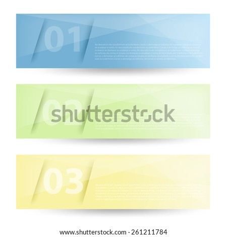 Set label vector background objects curve line with blue green and yellow color for text and message modern artwork design , vector paper - stock vector