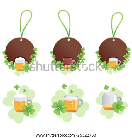 set label with shamrock