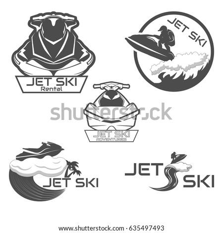 jet ski logo stock images, royalty-free images & vectors