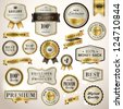 Set luxury labels and ribbons - stock vector