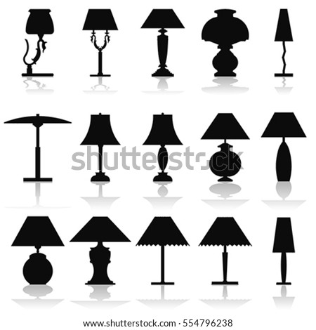 Wall Lamps Vector : Modern Lightning Standing Chandelier Table Wall Stock Vector 554796799 - Shutterstock