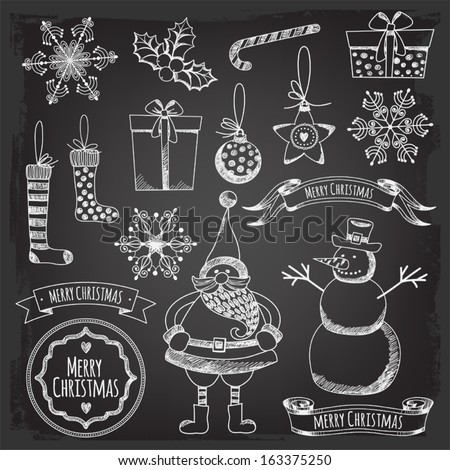 "set ""Merry Christmas."" - stock vector"