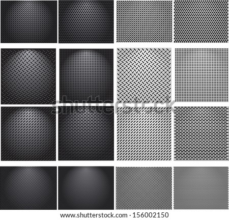 Set metal grids.  - stock vector