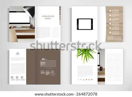 set modern book vector concept. Business graphics brochures design Templates.vector - stock vector