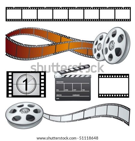 set movie theme vector