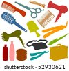 Set of a hair-stylist accessories - stock photo