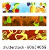 Set of a header background D - stock vector