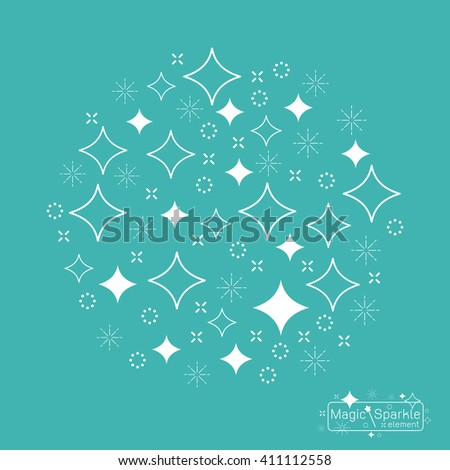 set magic sparkle wand design elements stock vector 411112549, Hause deko