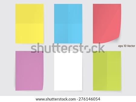 Set of A4 size paper sheet, Vector - stock vector