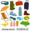 Set of a travel accessories - stock vector