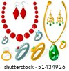 Set of a various jewelry - stock vector