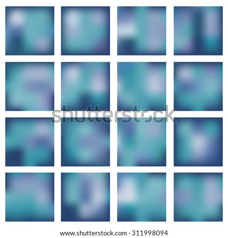 Set of abstract backgrounds blurred. Vector illustration