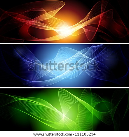 Set of abstract  banners - stock vector