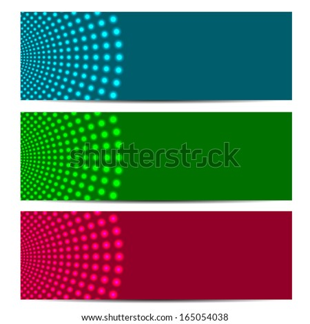 set of abstract banners.colorful background with glowing circles.vector